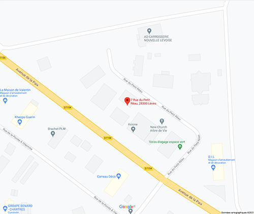Coordonnées bureaux et showroom Forté